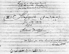 Autograph score of the 8th Symphony